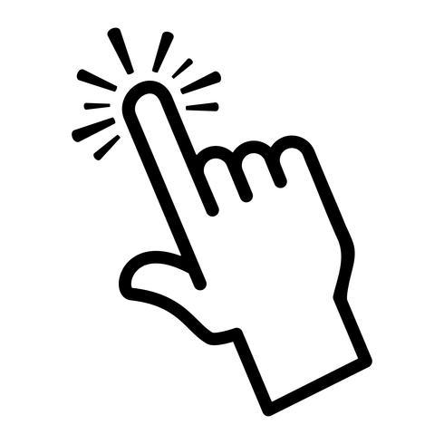 Icona di vettore di tocco dito
