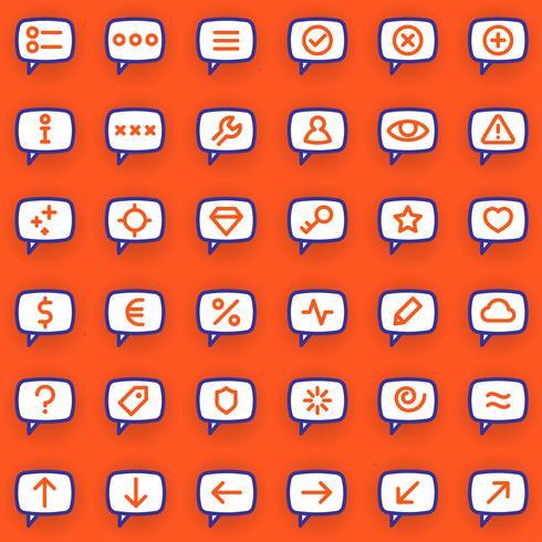 Icone dei messaggi vettore
