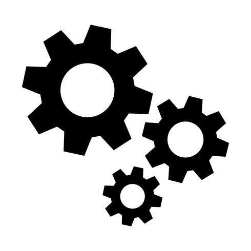 Icona di vettore di ingranaggi