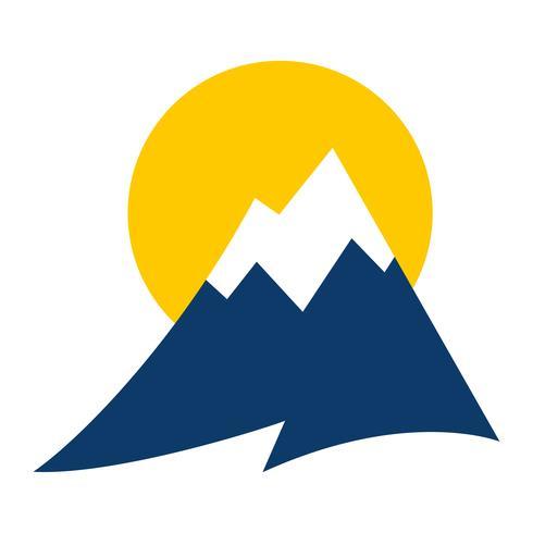 Icona di vettore della catena montuosa