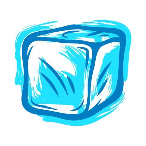 Cubetti di ghiaccio congelati per bevande vettore