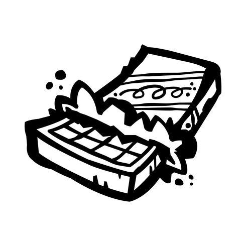 cartone animato di cioccolato vettore
