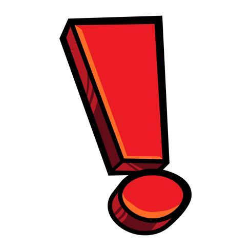 Icona di vettore del punto esclamativo