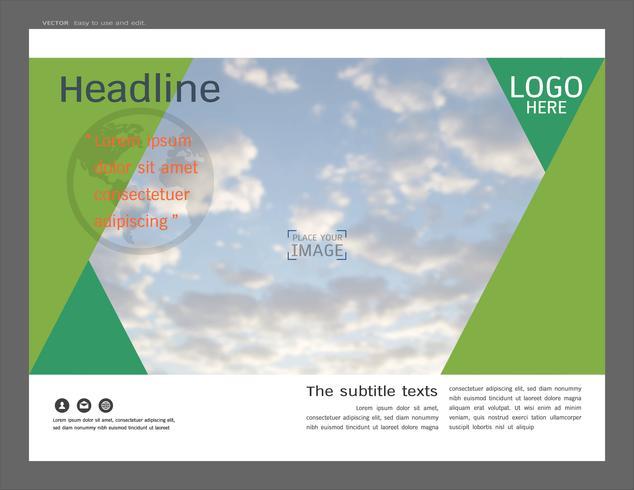 Presentazione del layout design per modello di business, ispirazione per il tuo design tutti i media. vettore