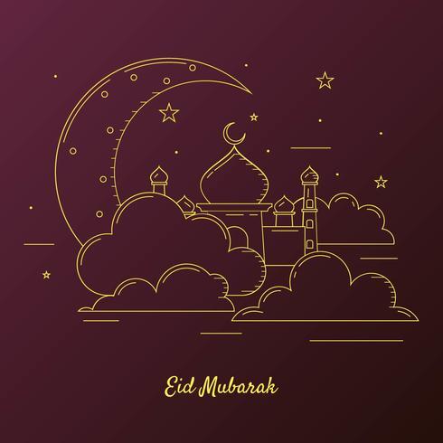 Sfondo di Ramadan Kareem con la luna vettore