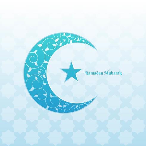 Ramadan Mubarak bellissimo biglietto di auguri vettore