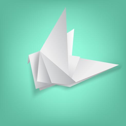 saggezza sulla piegatura della carta degli uccelli vettore