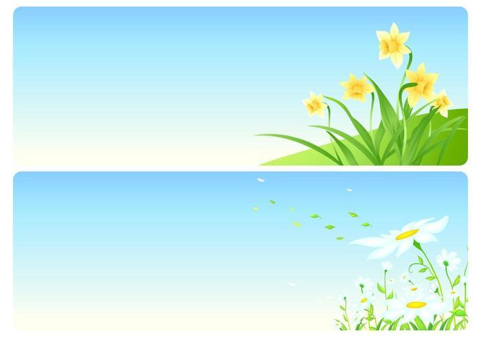 Pacchetto di sfondi floreali vettoriali primaverili