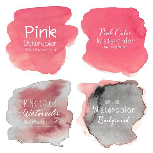 Rosa acquerello astratto. Illustrazione vettoriale
