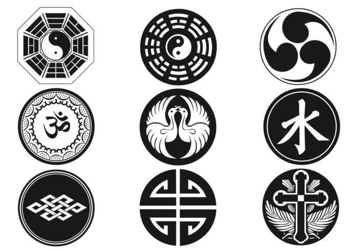 Pacchetto di simboli religiosi vettore