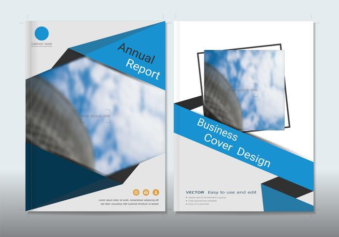 Copre il design con lo spazio per lo sfondo di foto. vettore