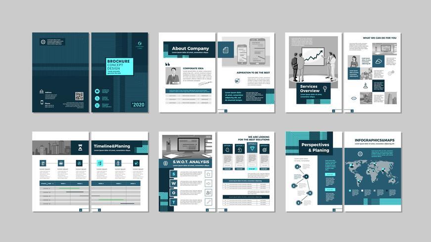 Brochure design creativo vettore