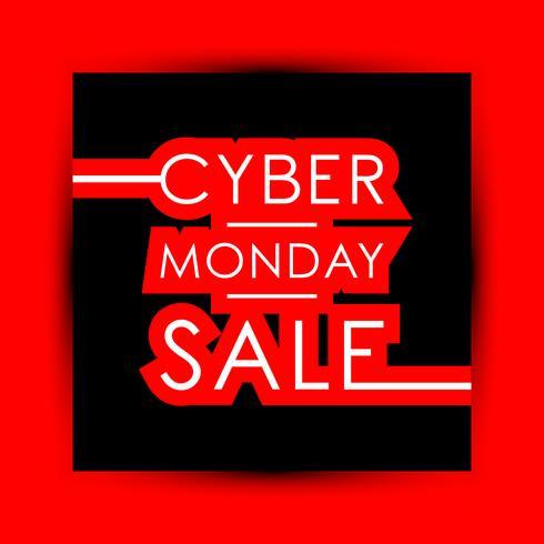 Vendita di Cyber Monday vettore