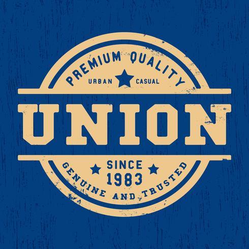 Francobollo vintage dell'Unione vettore