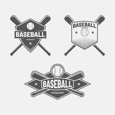 Retro distintivo di baseball vettore