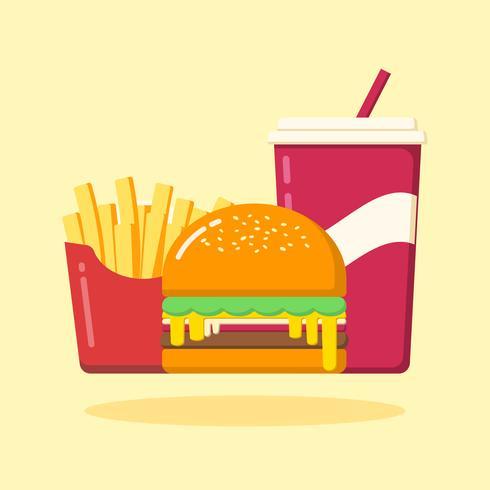 Set di hamburger vettore