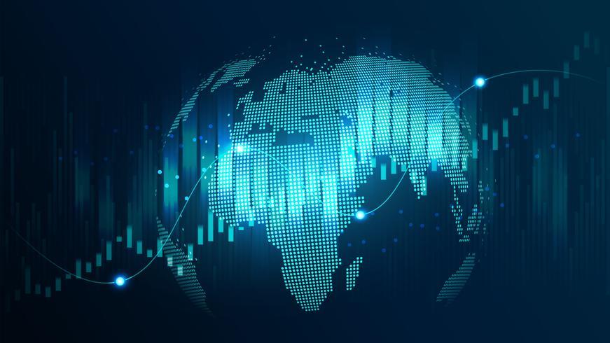 concetto futuristico della rete globale vettore