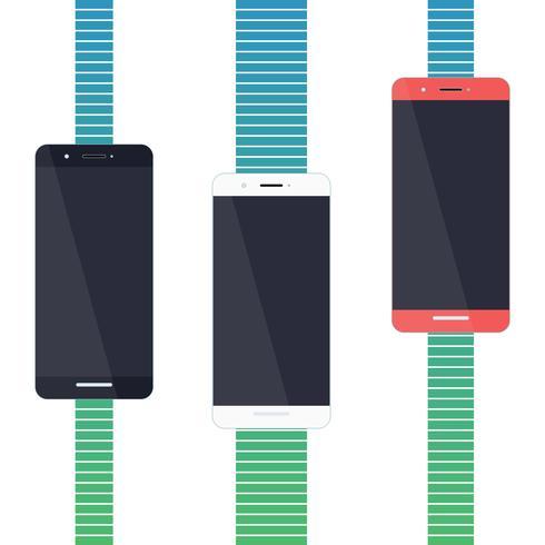 Design piatto per smartphone vettore
