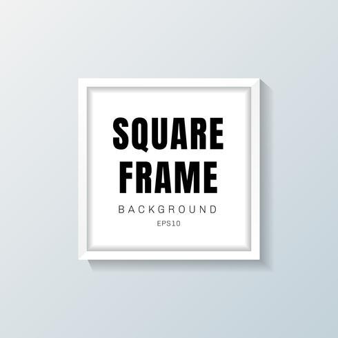 Modello di cornice quadrata realistica bianco su sfondo grigio vettore