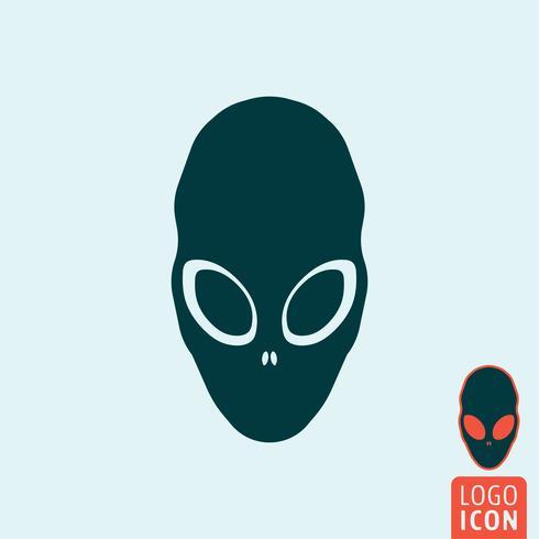 Icona aliena isolata vettore