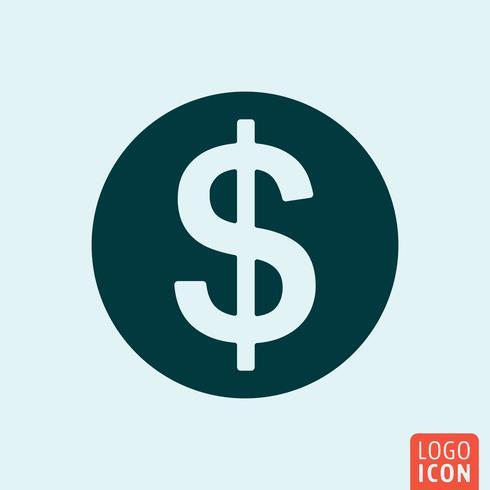 Disegno dell'icona di denaro vettore