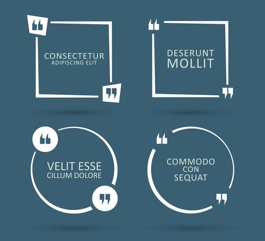Citazione illustrazione quadrata vettore