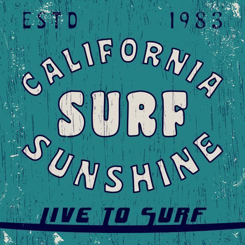 Timbro vintage California vettore