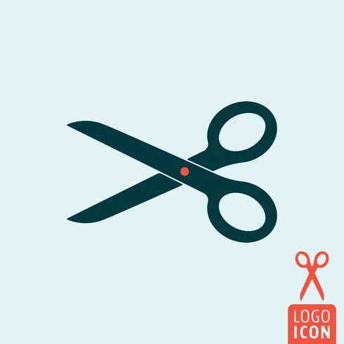 icona di forbici isolato vettore