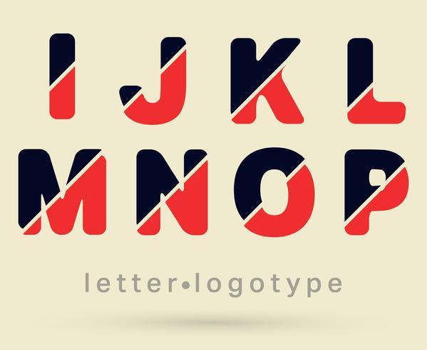 Carattere logo lettera vettore