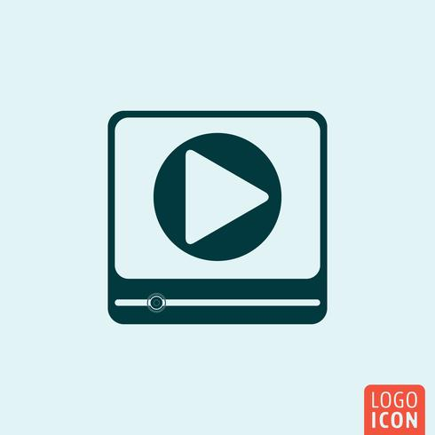 Icona del lettore video vettore