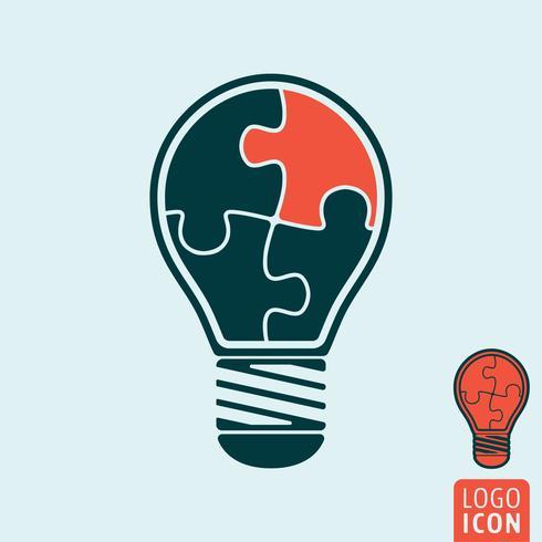 Icona della lampadina isolata. vettore