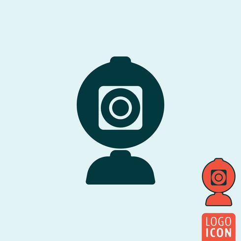 Icona della fotocamera Web isolata vettore