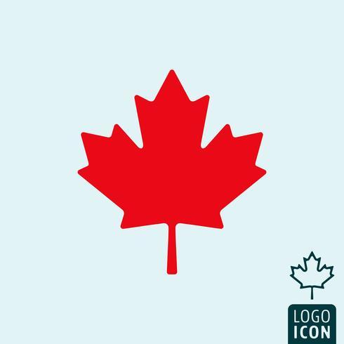 Icona del Canada isolata vettore