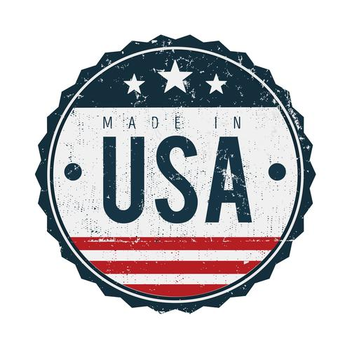 Made in USA Vintage Badge Seal vettore