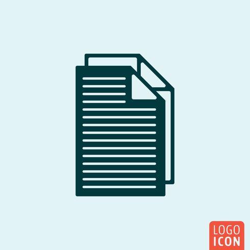 Icona del documento file vettore