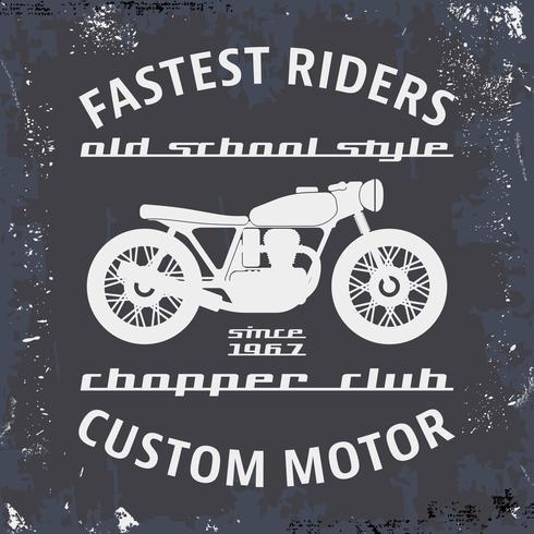 Timbro vintage moto vettore