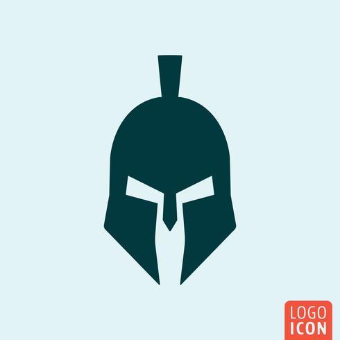 Icona del casco di Troia vettore