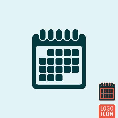 Icona calendario isolato vettore