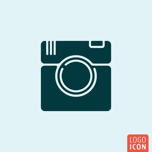 Disegno dell'icona della fotocamera vettore