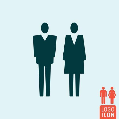 Icona di genere isolata vettore
