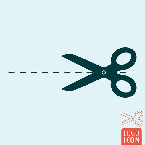 Icona di forbici isolata vettore