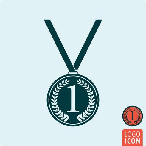 Icona della medaglia isolata vettore