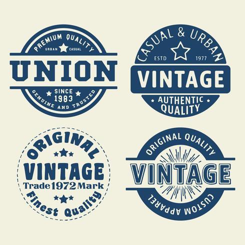 Set di francobolli vintage vettore