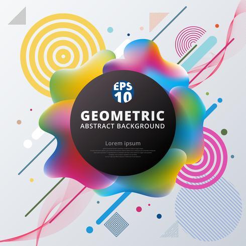 Progettazione e fondo geometrici del modello del cerchio variopinto di plastica astratto 3d. vettore
