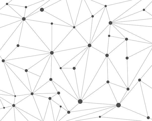 Fondo astratto della rete di tecnologia poligonale con i punti di collegamento - Vector l'illustrazione