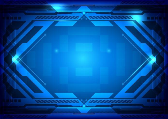 Illustrazione astratta blu di vettore di tecnologia digitale del fondo