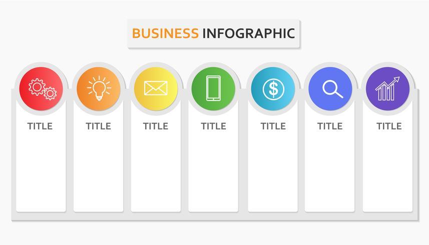 Elemento di modello di business infographic per banner di presentazioni o informazioni - illustrazione vettoriale