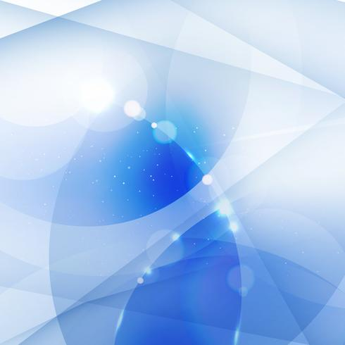 Astratto sfondo bianco e blu geometrico, linee, cerchi sovrapposti e effetto luminoso. vettore
