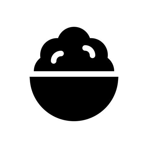 Illustrazione di vettore di servire morbido, icona di stile solido di dolci