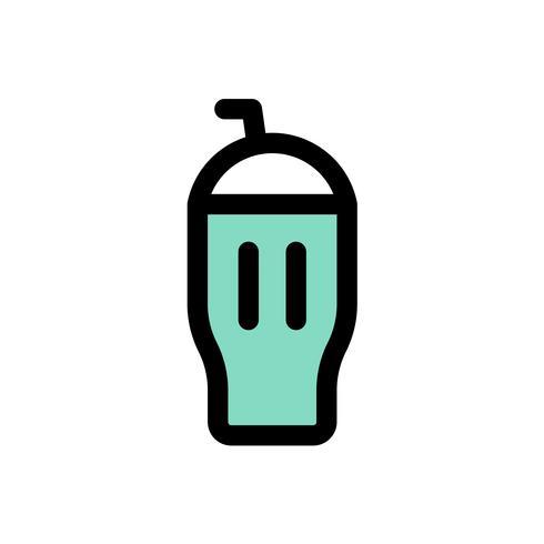 Vettore del frappè del gelato, profilo editabile dell'icona riempito dolci